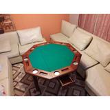 Mesas De Juegos Naipes, Poker, 40, Plegable.