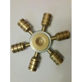 Spinner Metalico Dorado Y Plateado