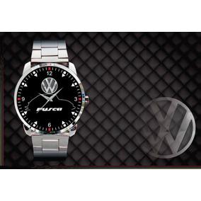 21771d2f03f Relógio De Pulso Personalizado Vw Volks Fusca Fuscão Antigo