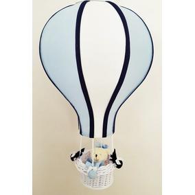 Lustre Quarto Bebê Balão Acinturado Decoração Azul Claro