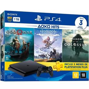 Ps4 1tb Jogos God Of War /horizon Shadow Of The Colossus