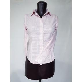 Blusa Para Uniforme, Oficina, Vestir Manga Larga Cuadros