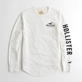 Hollister Camiseta Rakuten Blanco Con Aplique Orginal Dp