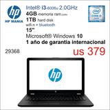 Notebook Hp I3/4gb/1tb Hd/15 En Español
