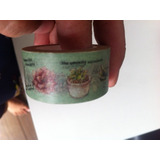 Washi Tape Suculentas -mais Grossa 2cm Fita Decotape