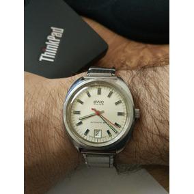 Reloj Bwc Suizo, Automático Con Calendario Vintage-no Omega