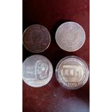 4 Monedas Plata Conmemorativas Venezuela Diferentes Fechas