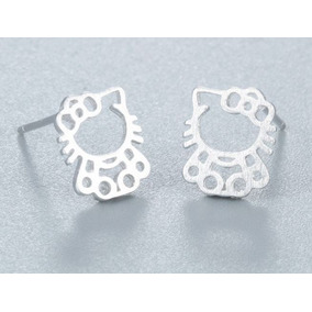 Aretes Contorno Hello Kitty Plata Esterlina