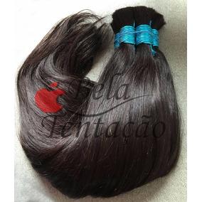 Cabelo Humano Natural Castanho 45/50cm 100g(cabelo Virgem)