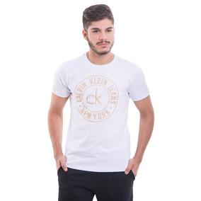 ad35be6775738 Camiseta Calvin Klein Cor Goiaba - Camisas no Mercado Livre Brasil