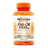 Fish Oil 1000 Mg Ômega 3 Óleo De Peixe Sundown 180 Cápsulas