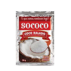 Coco Ralado Sococo 50g Kit Com 50 Unidades