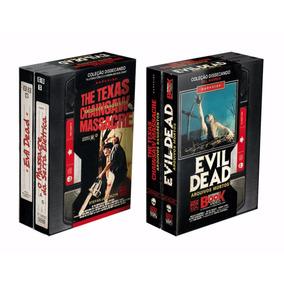 Box Terror Vhs Livro Evil Dead + Massacre Da Serra Elétrica