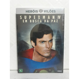 Dvd Superman 4 Em Busca Da Paz Filme Original Com Luva