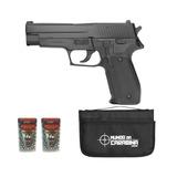 Pistola Pressão P226 Mola Slide Metal 4,5 + 2cx Esfera