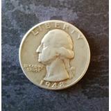 Moneda Quarter De Plata Del Año 1948