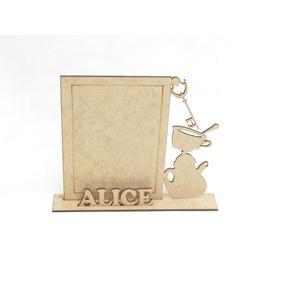 Porta Retrato Alice No País Das Maravilhas 40pçs Mdf Cru