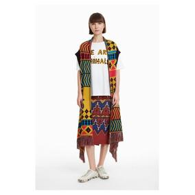 Poncho-chaleco Dama Textil Multicolor Desigual