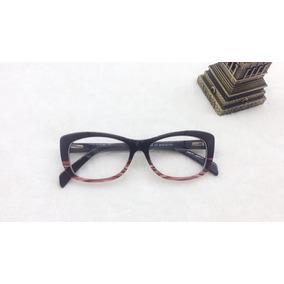 f0af5029bcf45 Armação Óculos De Grau Fem Quadrado Médio Promoção A035
