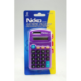 Calculadora Electrónica Con Batería 8 Dígitos Portátil