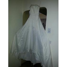 Vestido De Novia Con Guantes Y Velo Color Blanco Hueso