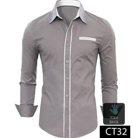 Camisa Masculino Prateado em Paraíba no Mercado Livre Brasil 931631eca88