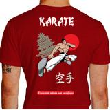 Camisa Karatê Templo Vermelha Infantil Dryfit Personalize 811bf551a5c52