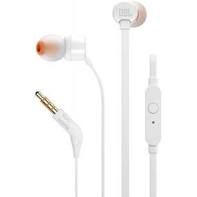 Fone De Ouvido Jbl T110 Branco Ear Com Microfone - Original!