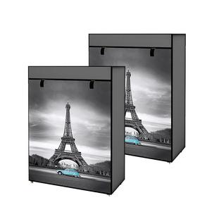 Set Zapatera 5 Repisas Paris 2 Piezas Torre Eiffel D-mark