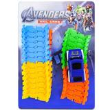 Carrinho Avengers Pista Corrida Colorida Vingadores