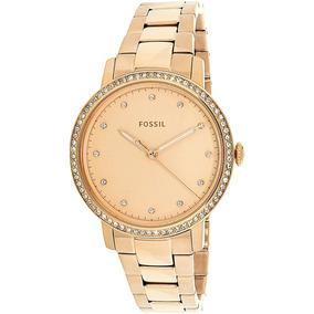 06379bd119bc Reloj Fossil Para Mujer Es4288 Cuarzo Rosa Oro De Acero