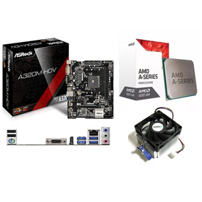 Kit Asrock Am4 A320m-hdv + A10 9700 Com Cooler