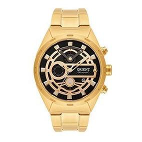 Relógio Orient Masculino Dourado Cronografico Mgssc023 P1kx