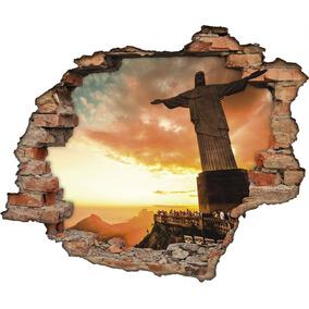 361c83e61af Adesivo De Parede Cristo Redentor Personalizado Cristo - Casa ...