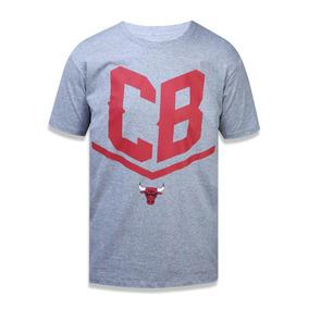 Camiseta New Era Chicago Bulls Cinza - Camisetas e Blusas Manga ... e439788e1c8