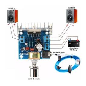 Placa Amplificador De Audio Montado Estereo 30w Rms 12v