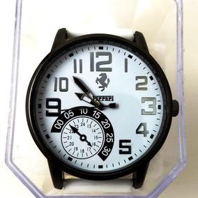 Relógio Masculino Ferrari Branco Analógico Silicone
