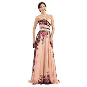 678c7a1684 Vestido Strapless Estampado Flores - Vestidos de Mujer en Mercado ...