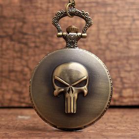 Genial Reloj De Bolsillo Punisher El Castigador Pocket Watch