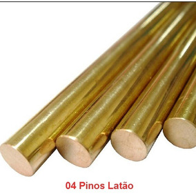 Kit 04 Pinos De Latão 4 Mm X 500 Mm Cutelaria E Artesanato