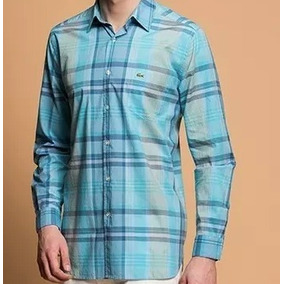 aab813b121cf2 Camisa Lacoste - Camisa Masculino no Mercado Livre Brasil