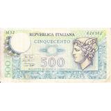 Billete De 500 Liras Italianas