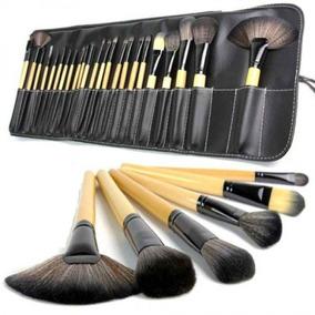 Kit 24 Pincéis Maquiagem + Estojo Premium Preto Pincel Make