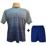 Uniforme 12 Camisas City Cel roy + 12 Calções Madrid Royal 1aae788d4819c