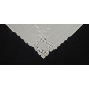Antiguo Pañuelo Bordado Al Crochet Batista (f)