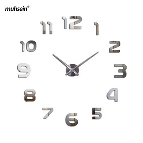 Reloj Mural Adhesivo 3d Tipo Espejo Modelo2 - Envío Gratis-