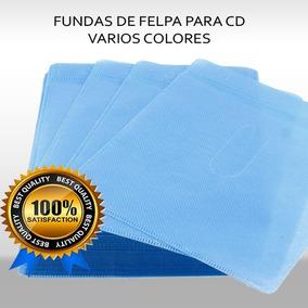 Estuche, Fundas Felpa Cd Dvd 100 Unidad 5 Colores Oferta!!!