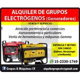 Alquiler De Grupos Electrógenos / Herramientas - Venta/serv.