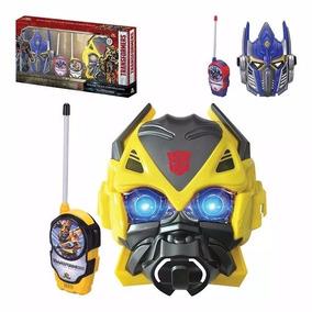 Walkie Talkie Transformers C/ Mascara Radio Brinquedo