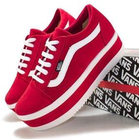 f4d8e8a375 Vans Feminino 35 - Tênis Vermelho no Mercado Livre Brasil